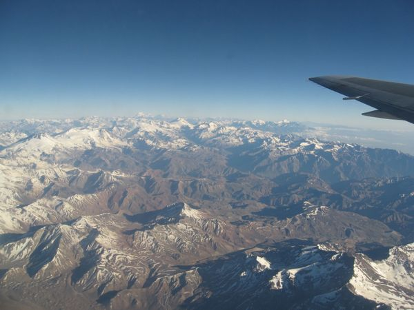 Andes from the Plane
