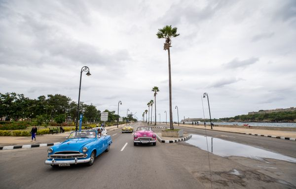 Old american cars cuba street