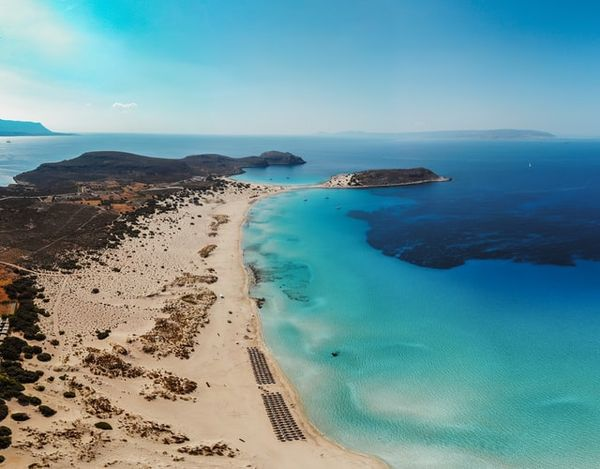 Elafonisos Beach Sand Blue Water Monemvasia