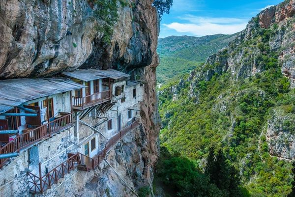 Monastery Menalon Dimitris Hike Prodromos Monks