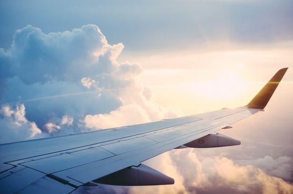 Plane Airplane Flight Clouds Sky Sun