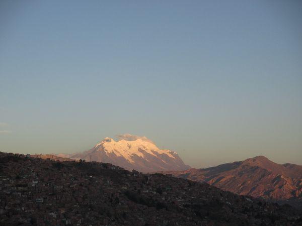 illimani volcan La Paz overview
