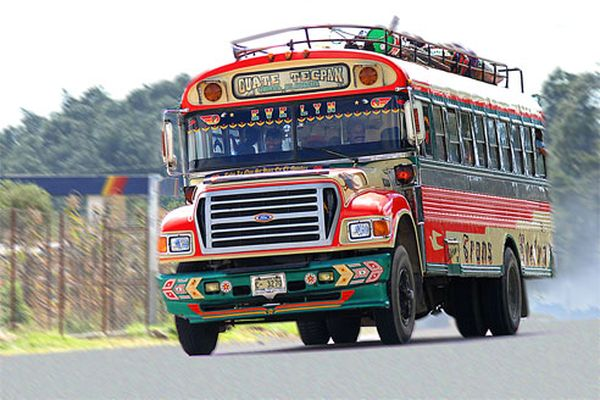 Guatemala local bus