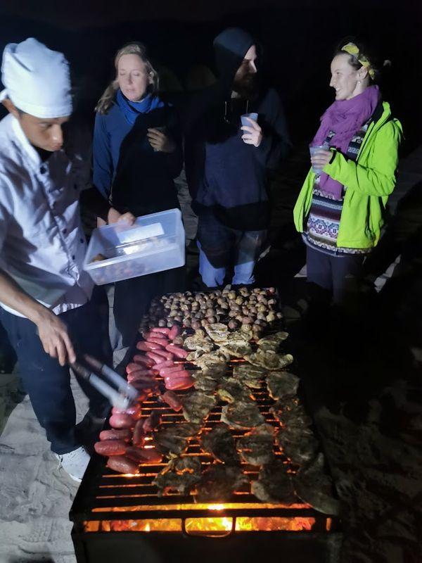 Campfire Huacachina people