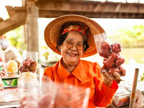 Amphawa Lady Thailand Market