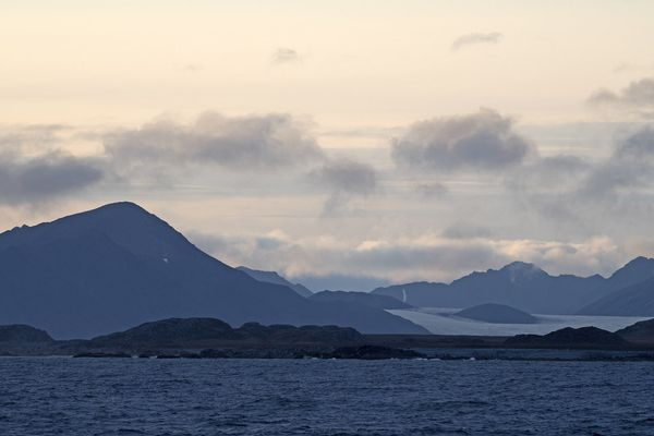 A beautiful late summer day on Svalbard (Spitsbergen) with the most spectacular nature scenery
