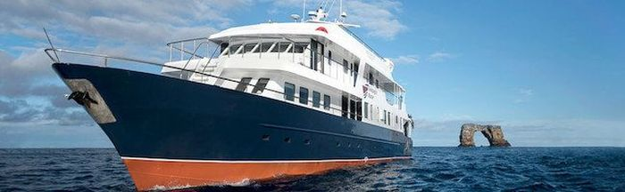 Filter media for: A selection of larger Galapagos cruise ships that include a 24h medical service page